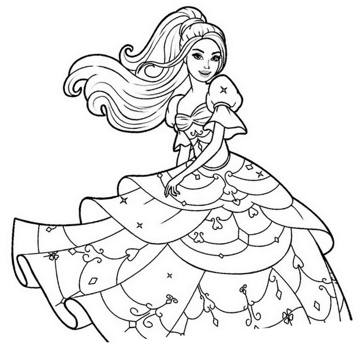 Dibujos De Los Vestidos De Barbie Para Colorear