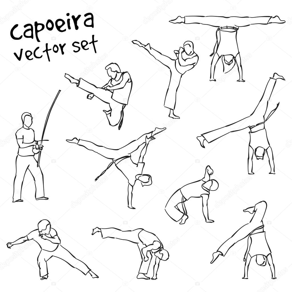 Vector Capoeira Set — Stock Vector © Lemuur  102309856