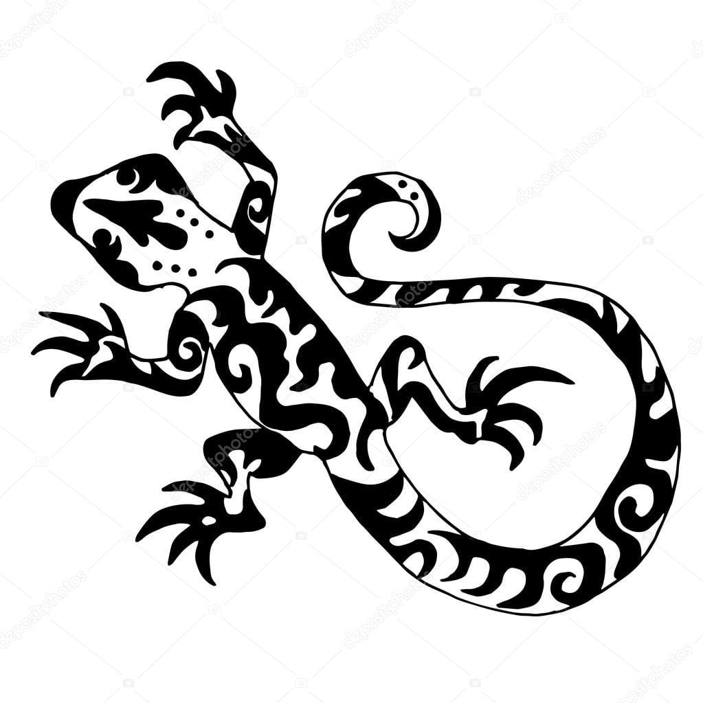 Hiqh Qualidade Origanl Lagarto Ou Salamandra Desenhado Para