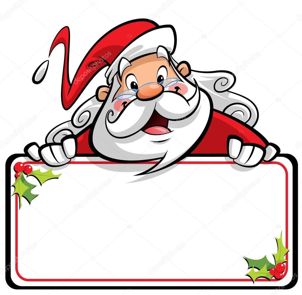 Feliz Sorridente Personagem De Desenho Animado Papai Noel
