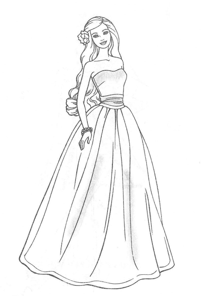 Cute Modern Barbie Coloring Pages