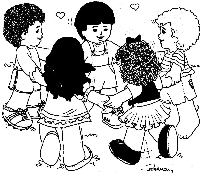 Desenho De Criancas Para Pintar – Pampekids Net