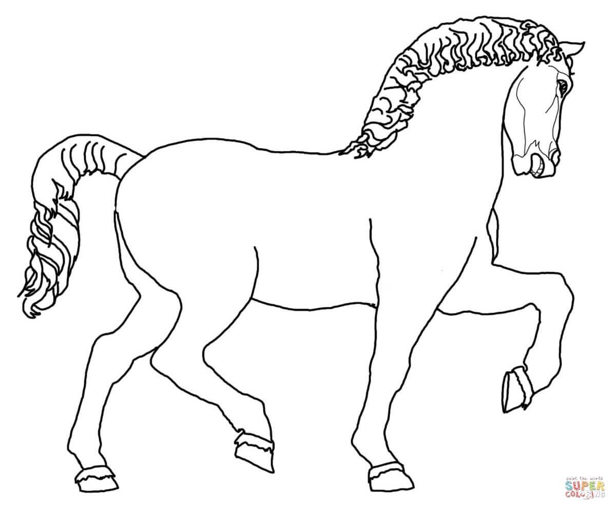 Desenho De Escultura De Cavalo De Leonardo Para Colorir