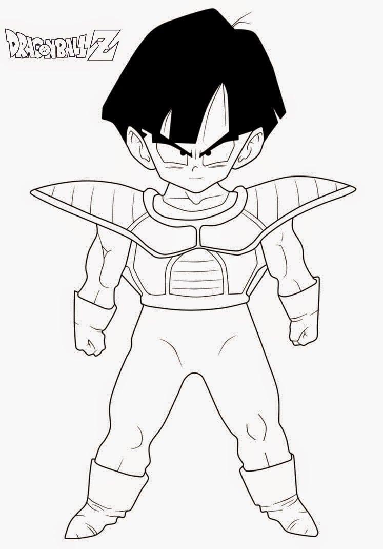Desenhos Para Colorir E Imprimir  Desenhos Do Dragon Ball Z Para