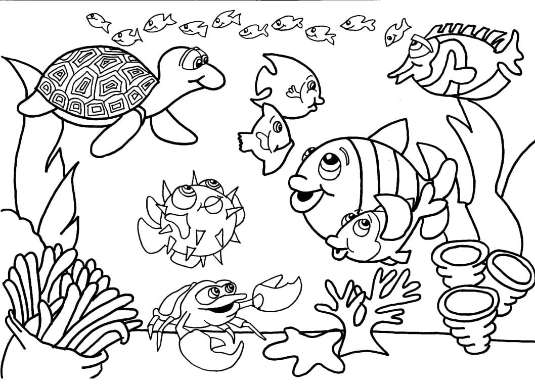 Desenho De Peixe Para Colorir E Imprimir