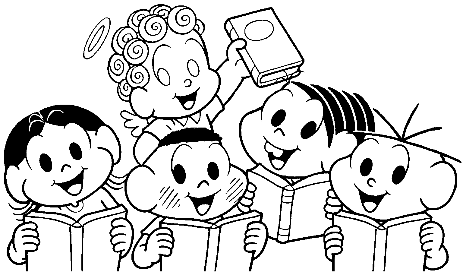 Desenhos Da Turma Da Monica Para Colorir