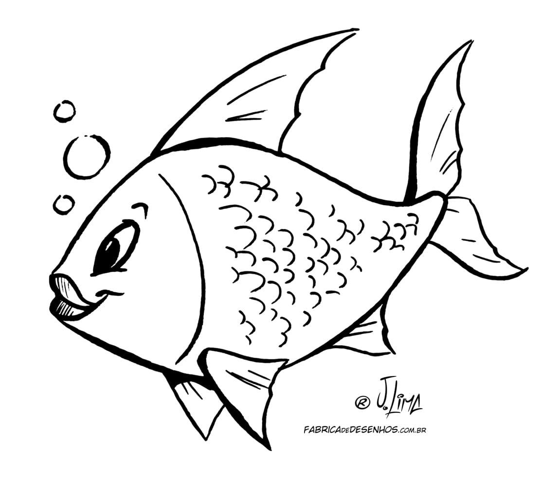 Desenho De Peixe Para Colorir E Imprimir – Pampekids Net