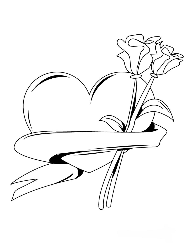 Desenhos De Coracao Para Colorir Imprimir
