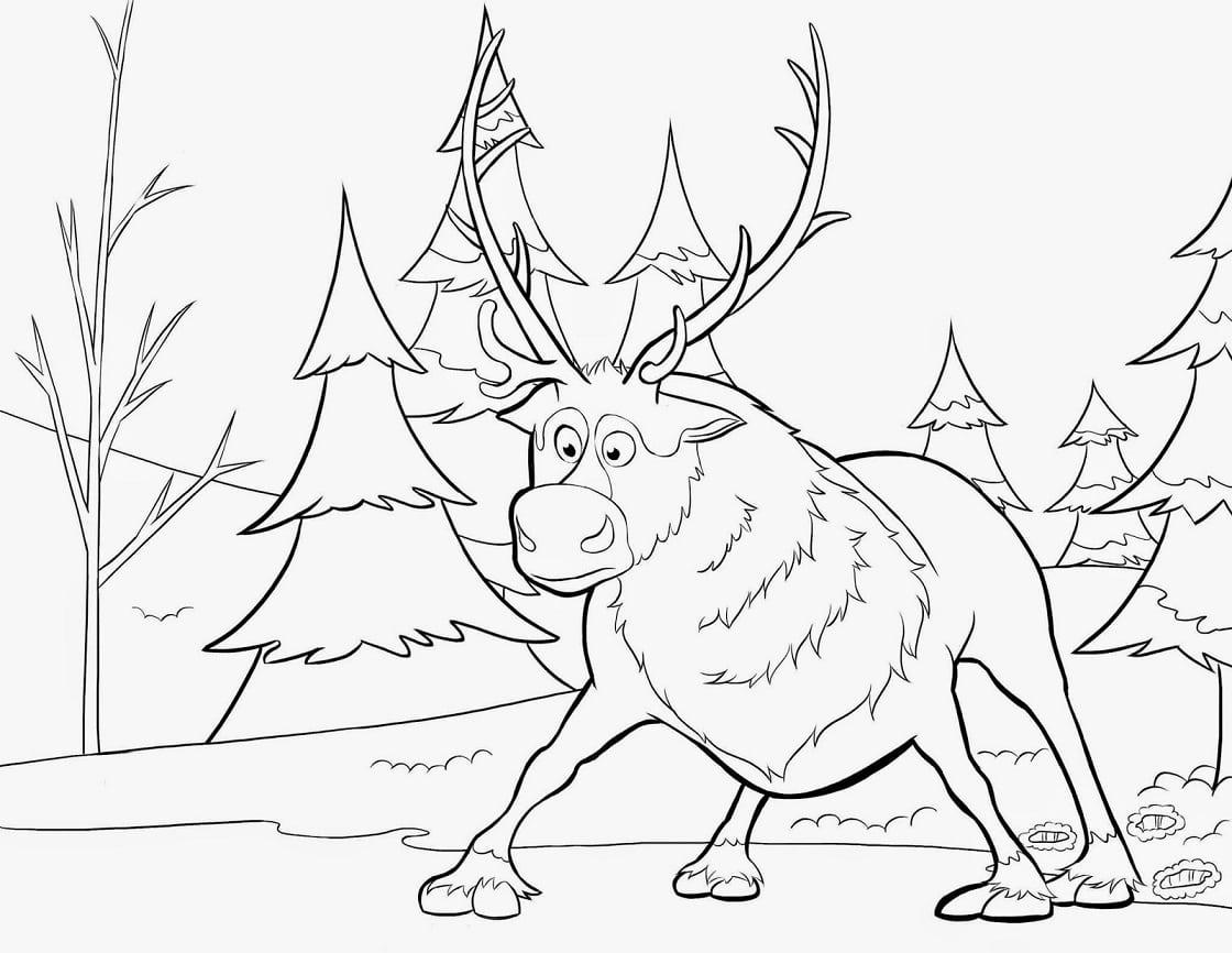 Desenho De Pintar Da Frozen