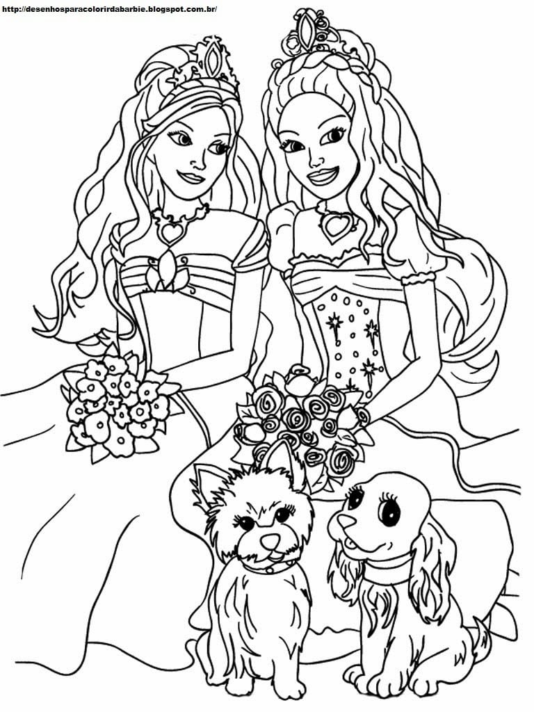 Desenhos Para Colorir A Barbie – Pampekids Net