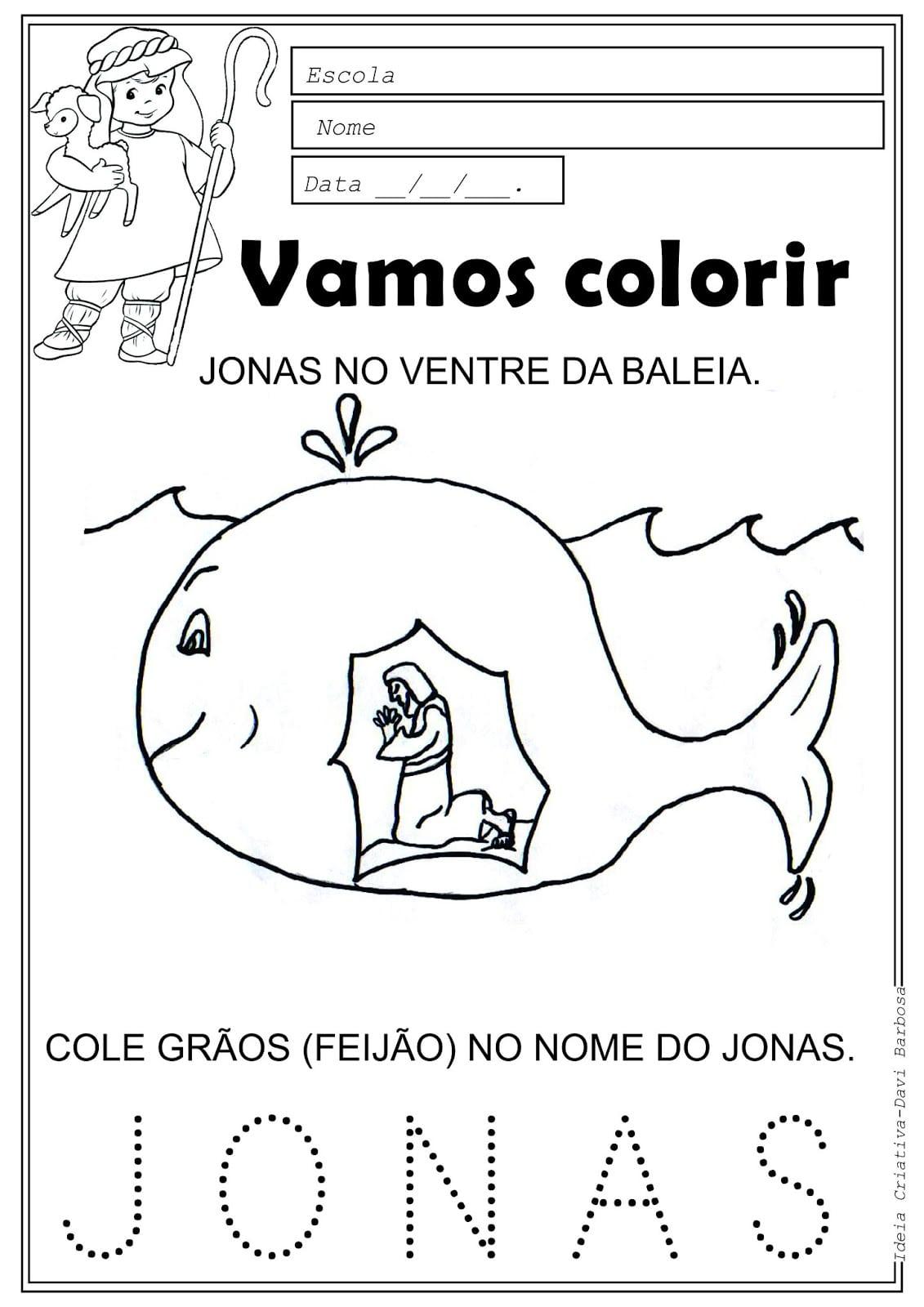 Baleia Para Colorir