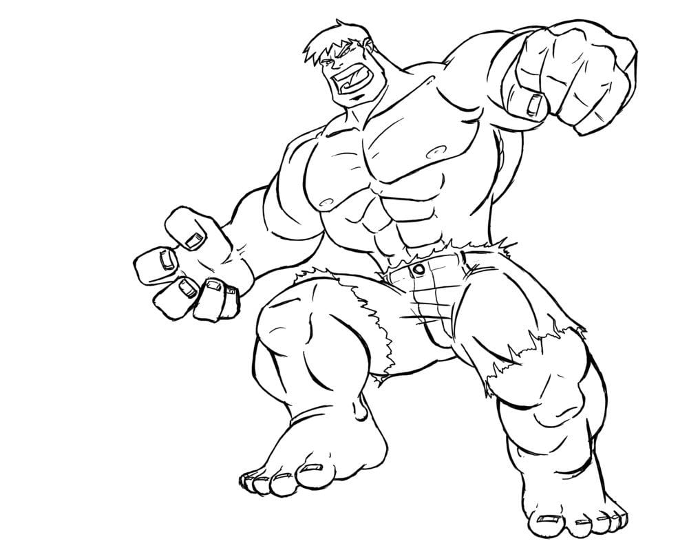 Desenhos De Super Herois Para Colorir