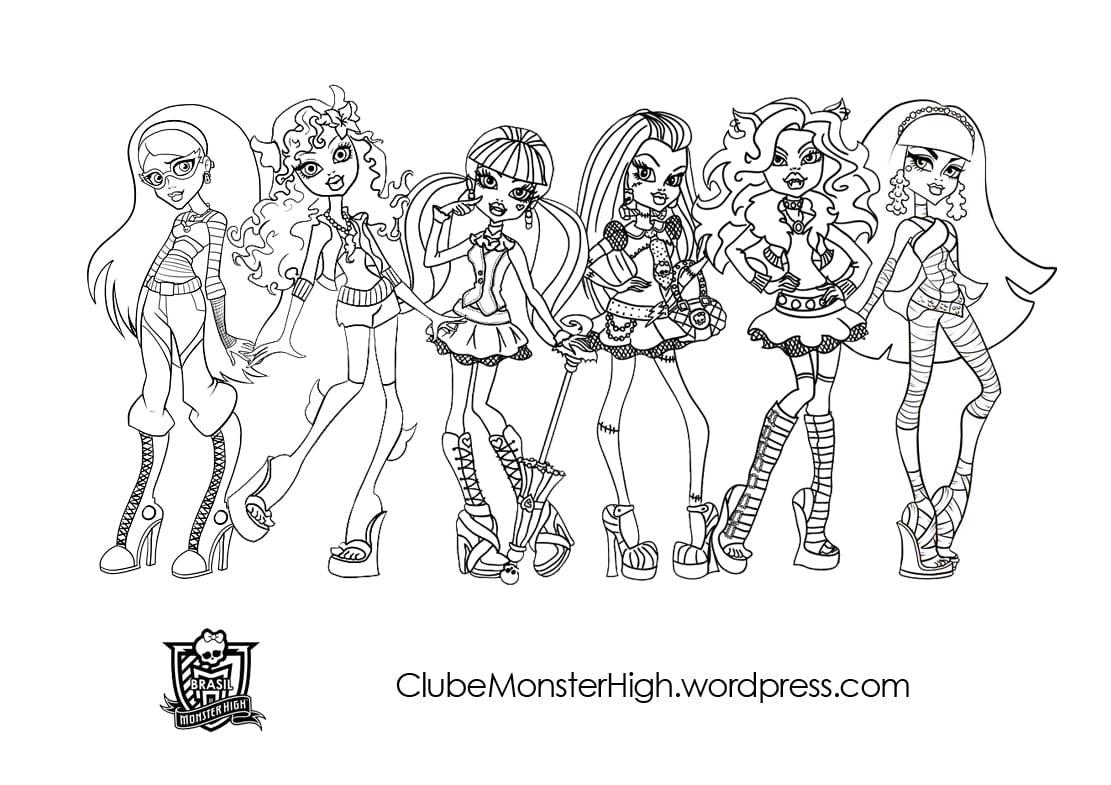 Desenho De Monster High Para Colorir