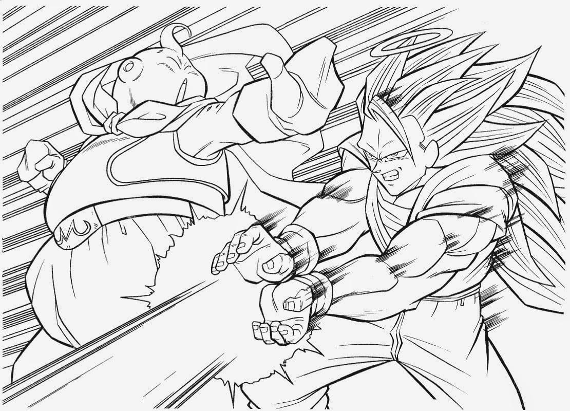 Desenhos Para Colorir Colorir Goku: Desenhos Para Colorir E Imprimir Dragon Ball Z