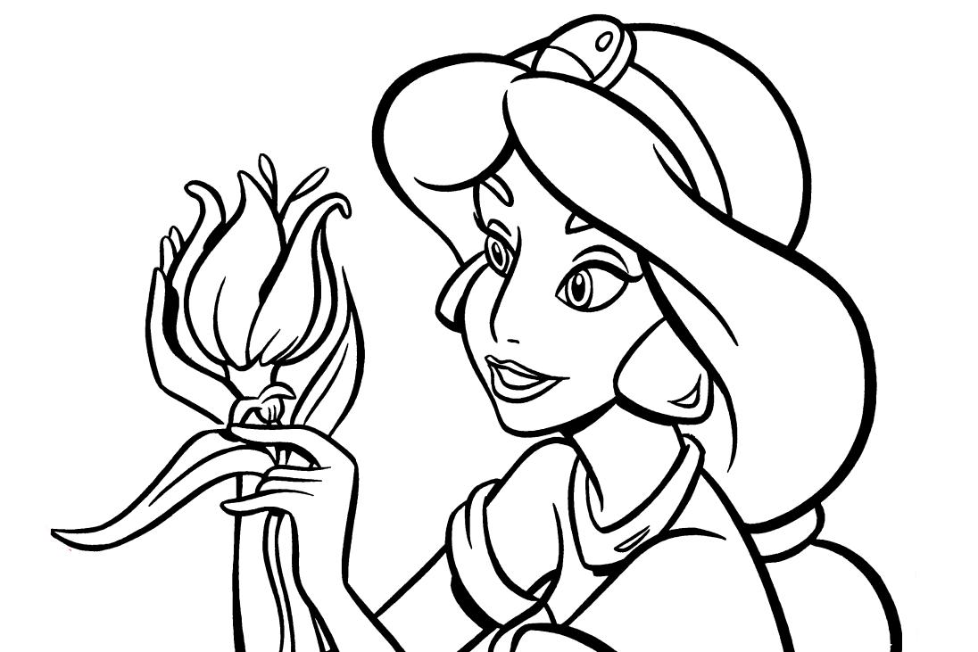 Princesa Jasmine Para Colorir