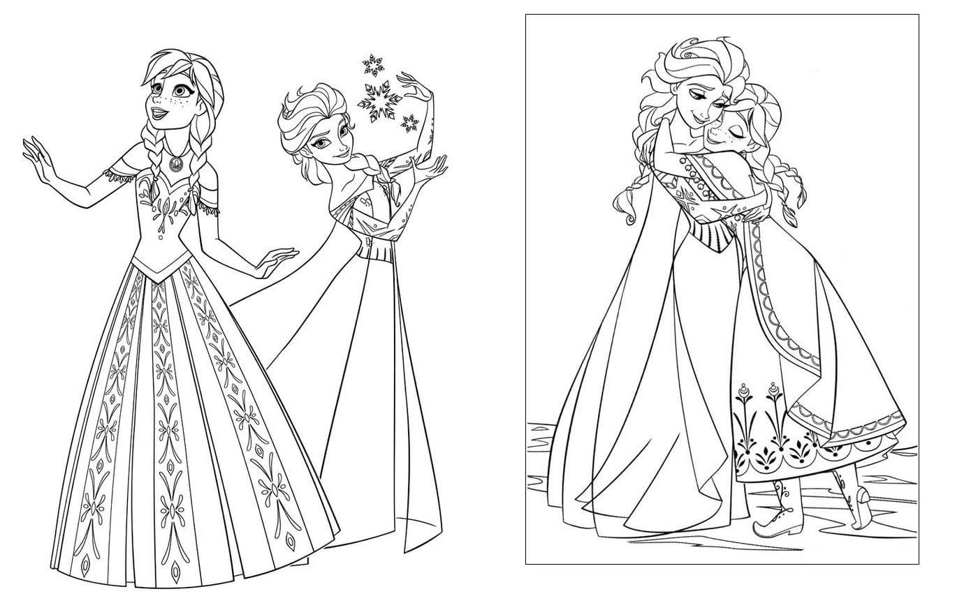 Desenhos Para Colorir Frozen  55 Modelos Para Imprimir!