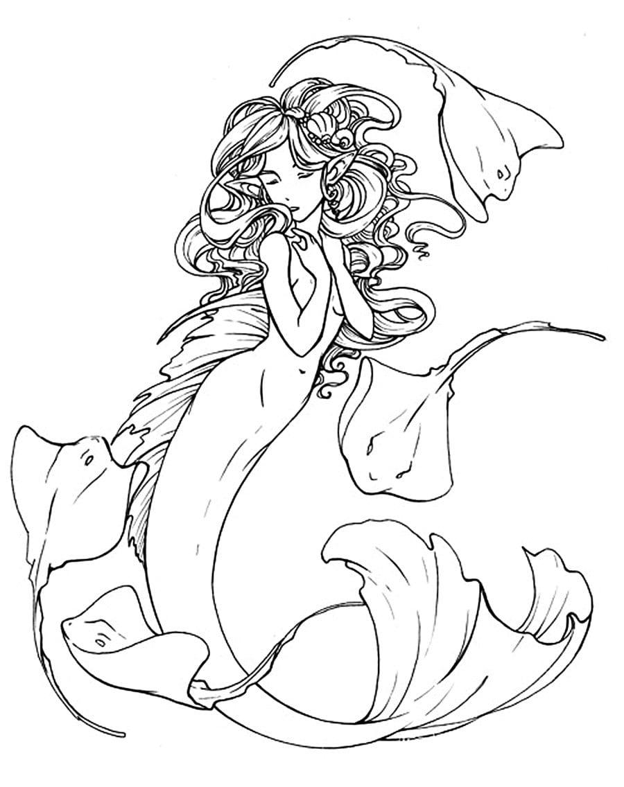 Desenho Para Colorir De Sereia