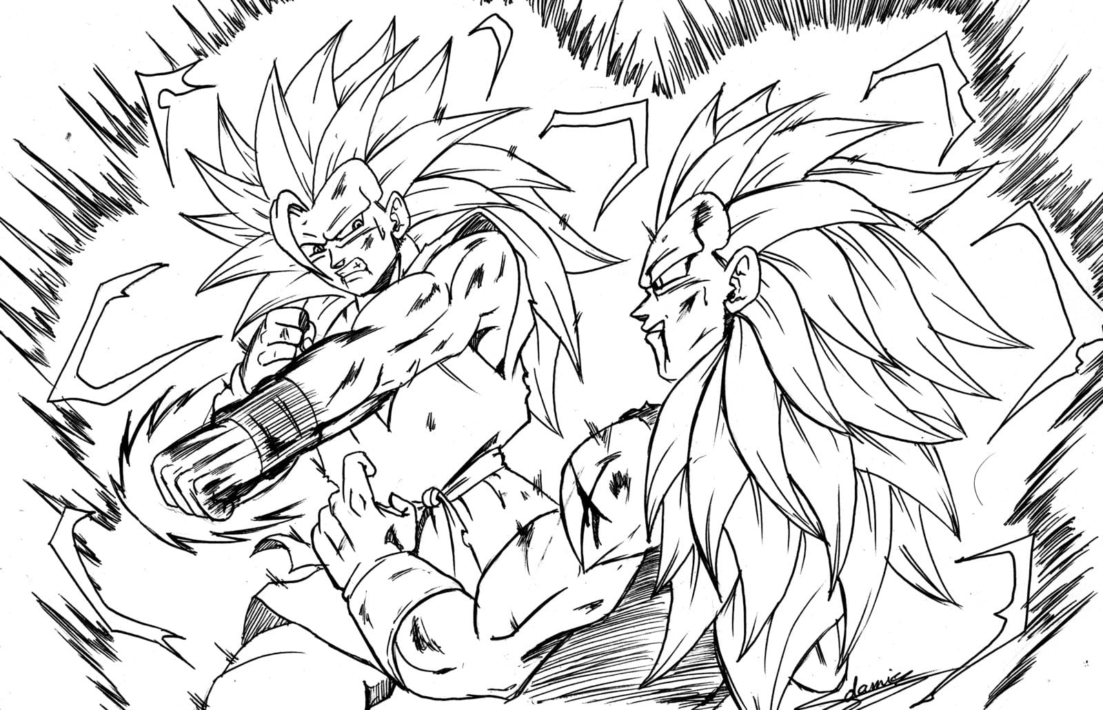 Dibujo De Goku Y Vegeta Para Imprimir Y Colorear: Desenhos Para Colorir E Imprimir Dragon Ball Z