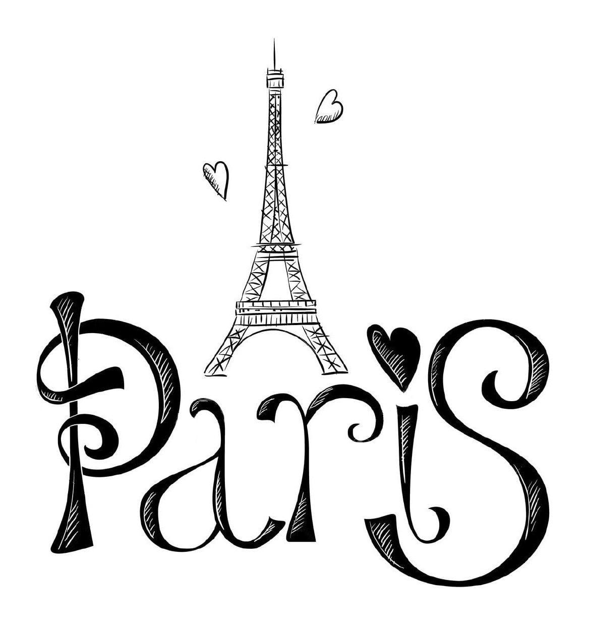 ▷ Torre Eiffel  Dibujos E Imágenes Para Dibujar La  Torre De París