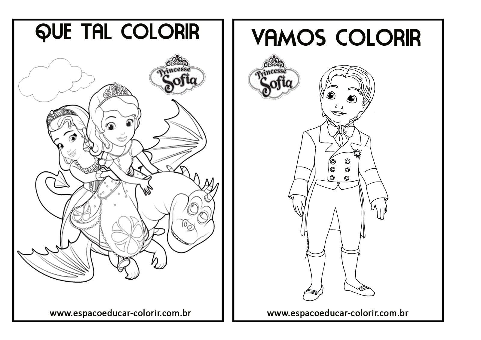 Livrinho De Colorir Da Princesinha Sofia Para Você Imprimir Grátis
