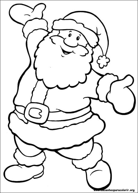 Desenhos De Papai Noel Para Colorir Desenhos De Papai Noel Para