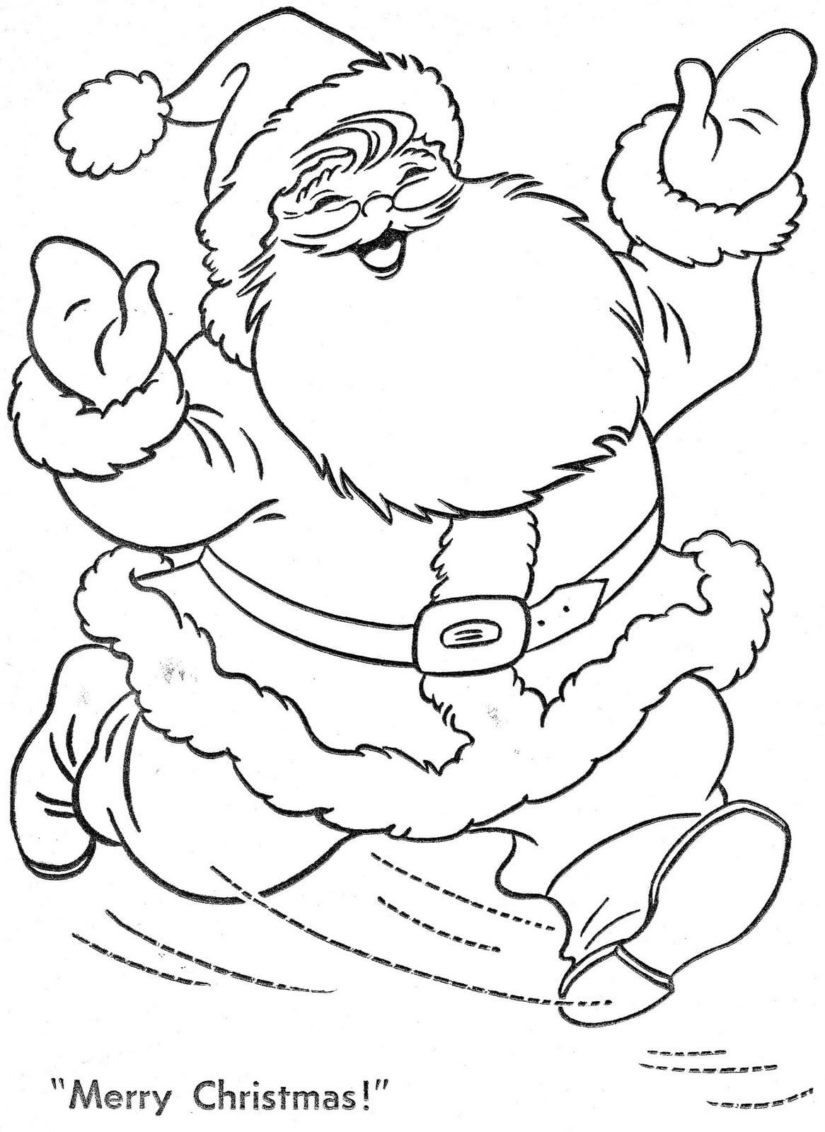 Imagem De Papai Noel Para Colorir E Imprimir