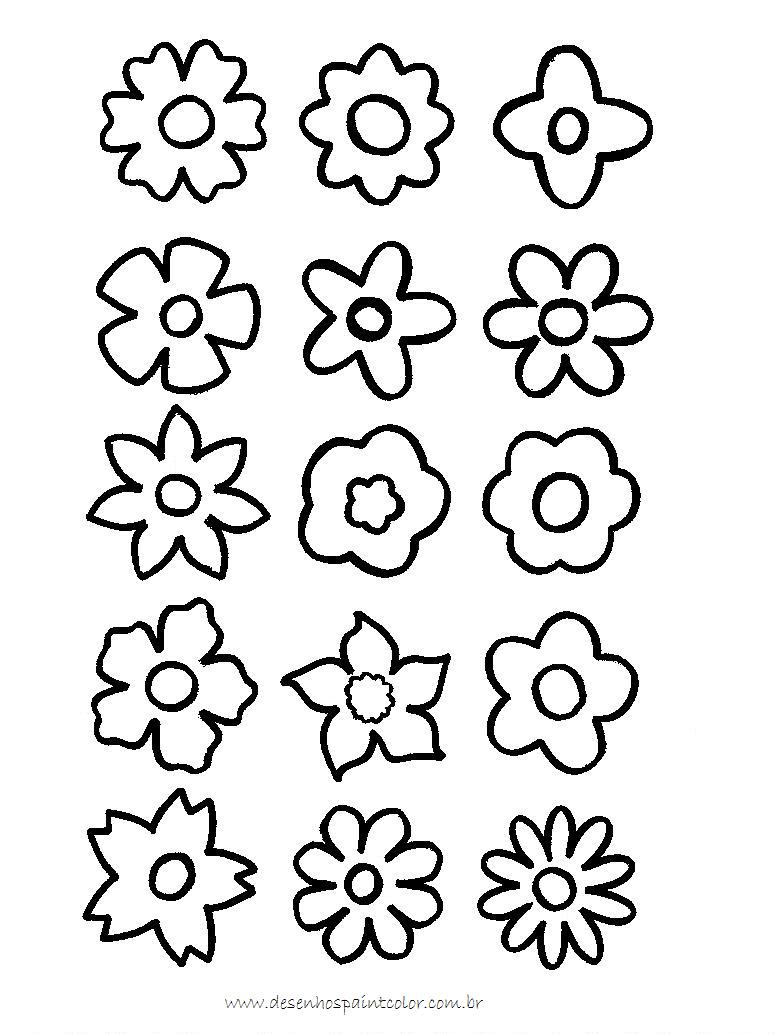 Flor Para Colorir E Imprimir