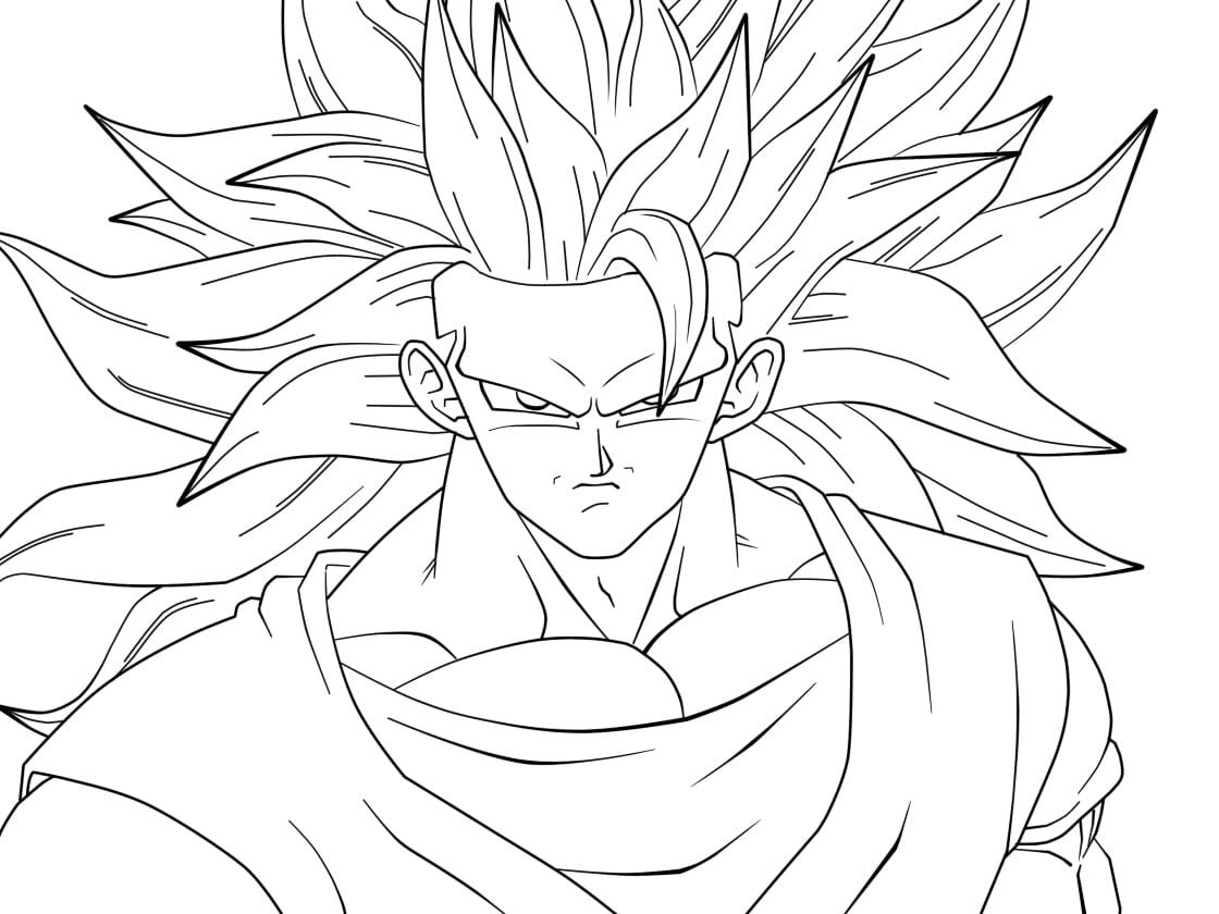 Desenhos Goku Para Colorir ~ Imagens Para Colorir