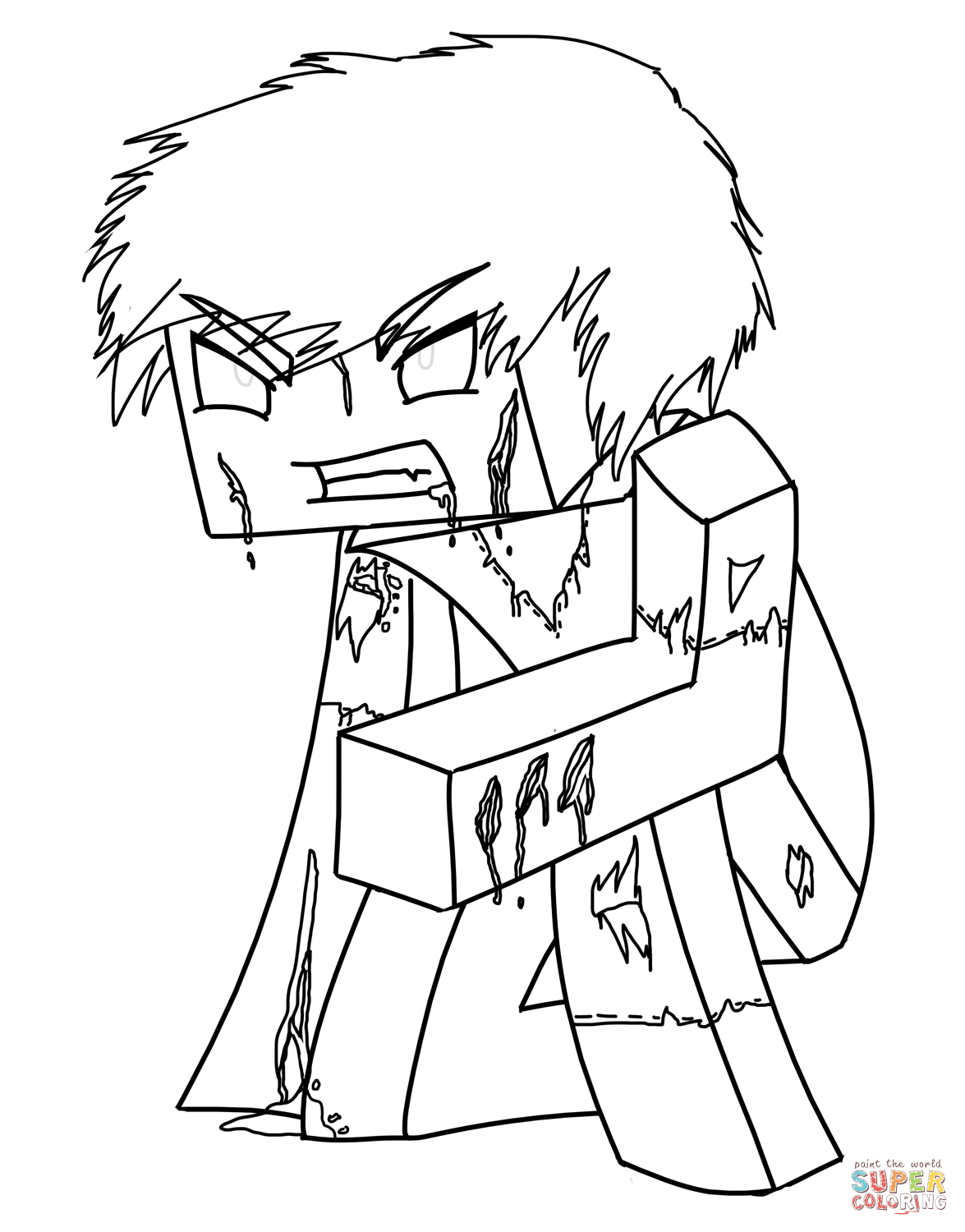 25 Free Minecraft Coloring Page