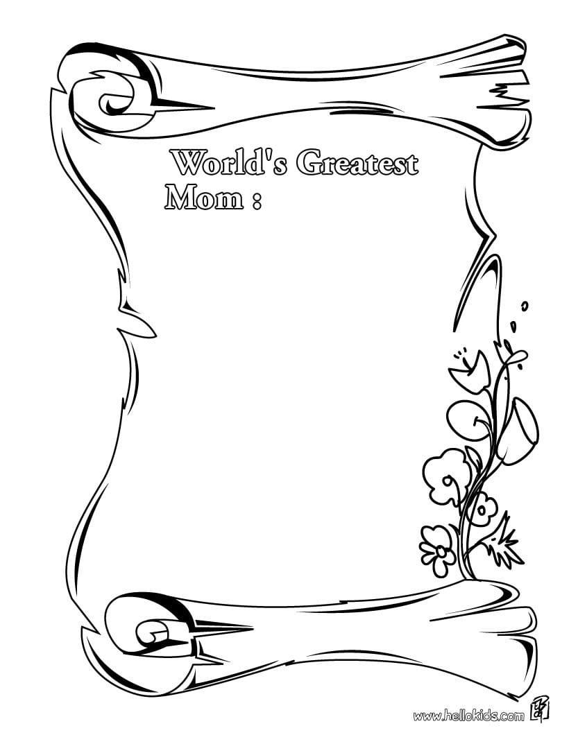 Desenhos Para Colorir De Cartão Do Dia Das Mães Para Colorir
