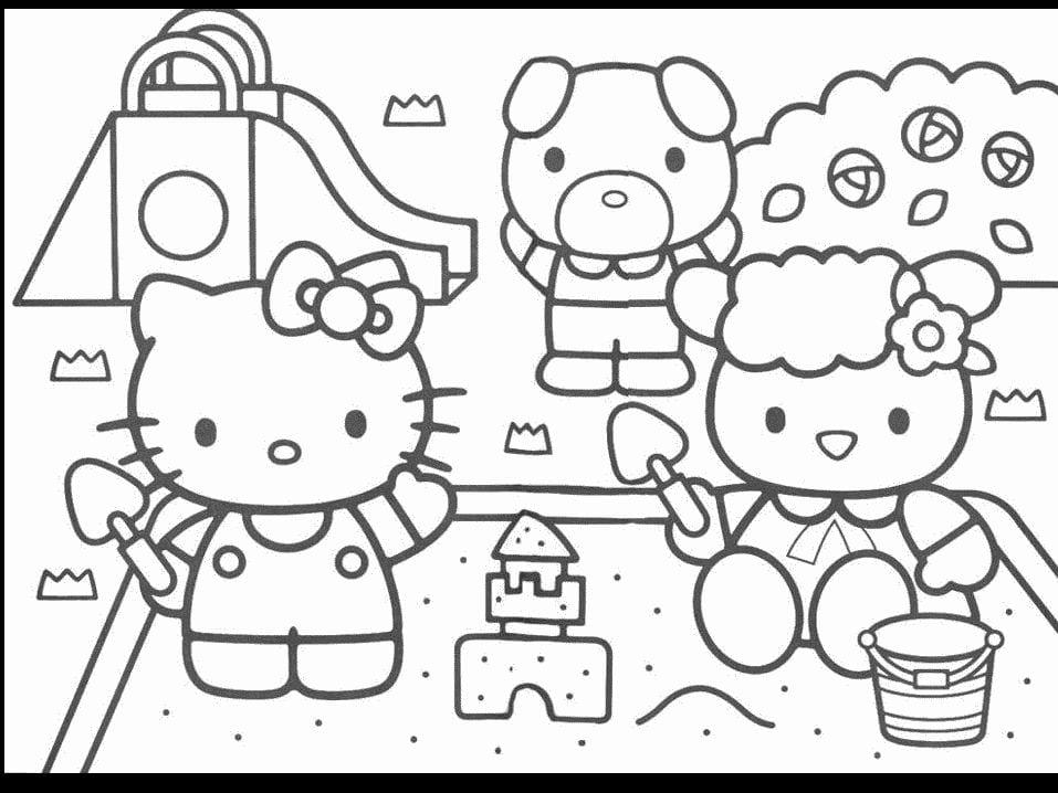 Desenhos Hello Kitty Para Colorir