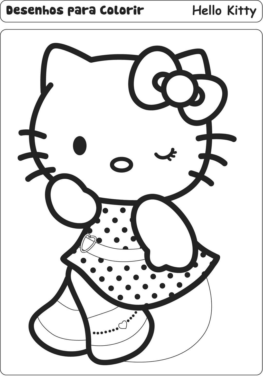 Imagens Para Colorir Da Hello Kitty – Pampekids Net