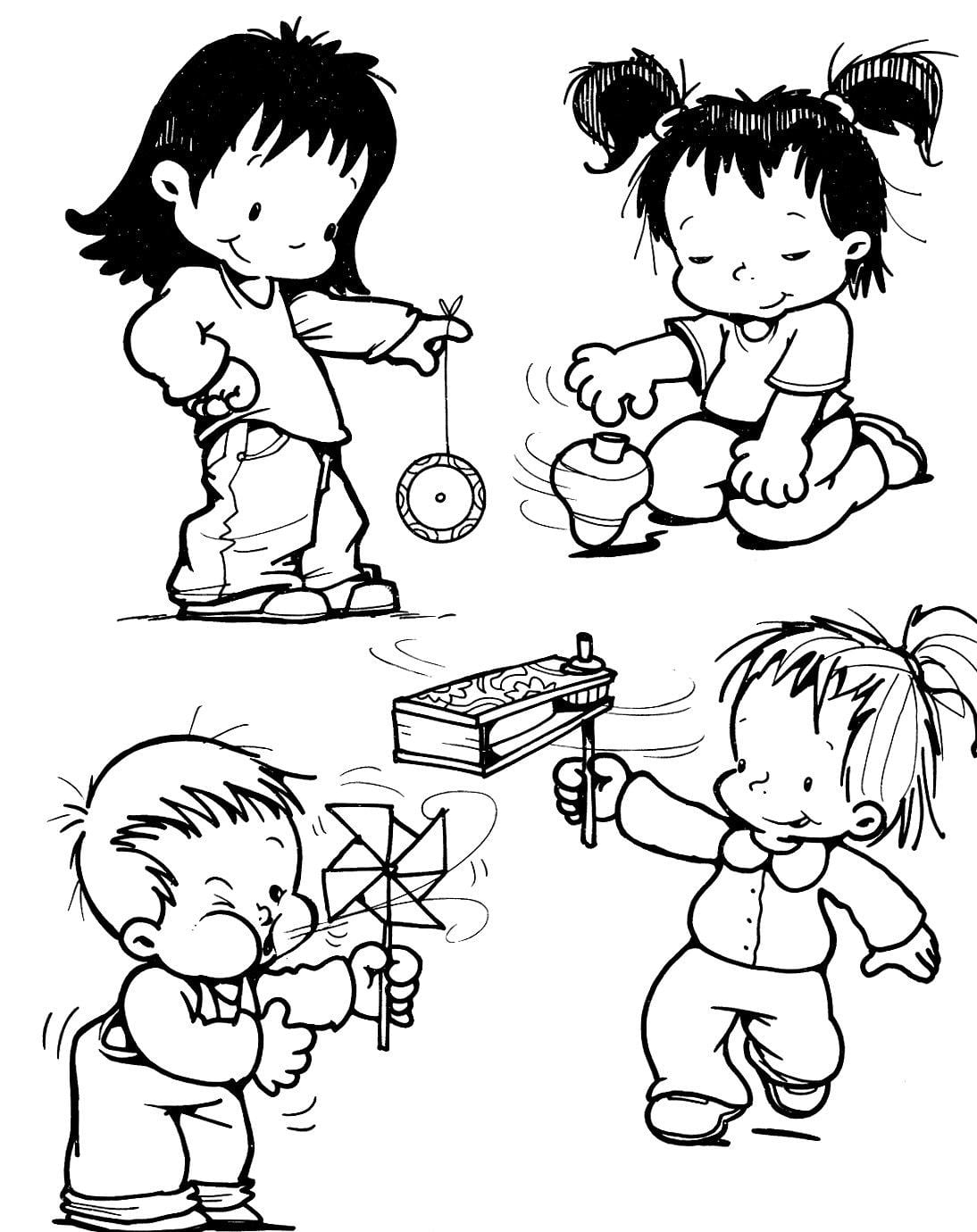 Gravuras De Criancas Para Colorir