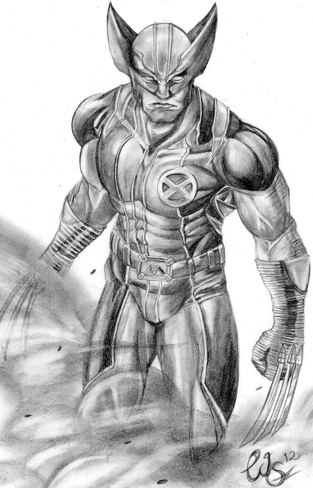 Estudio De Arte Wagner Saito  Wolverine Feito Com Lápis 5b