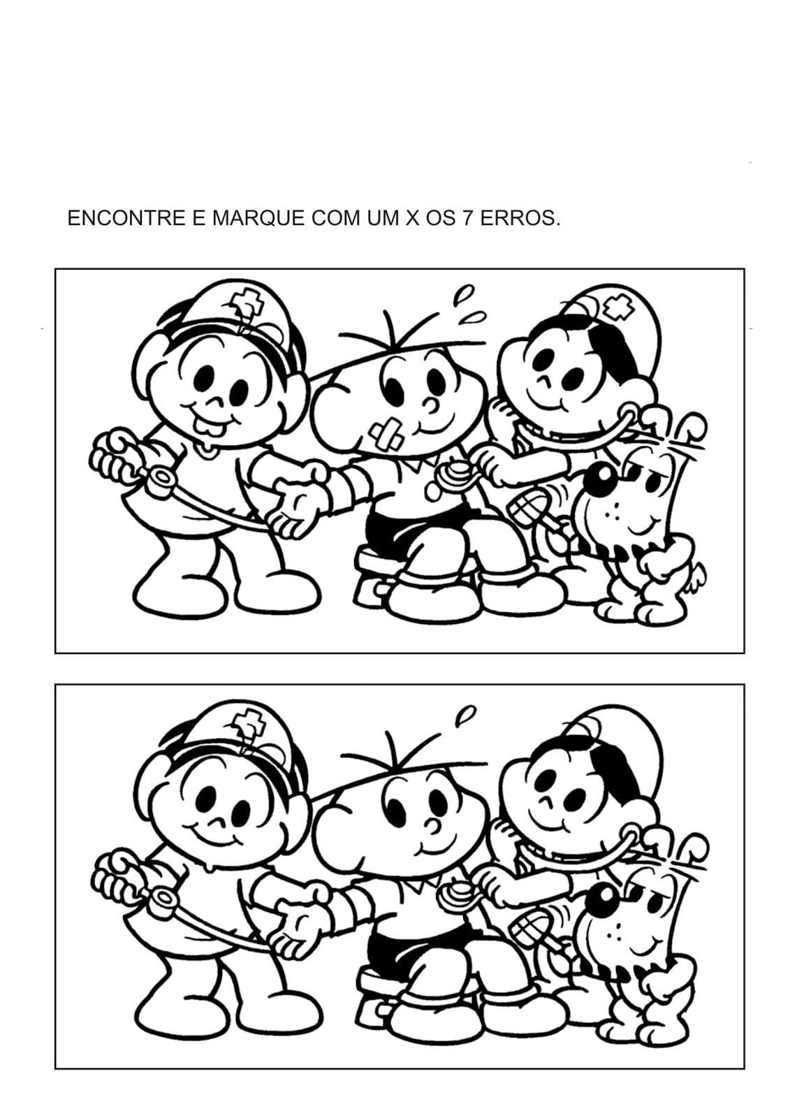 Desenho De Jogo Das Diferenças Brincando De Médico Para Colorir