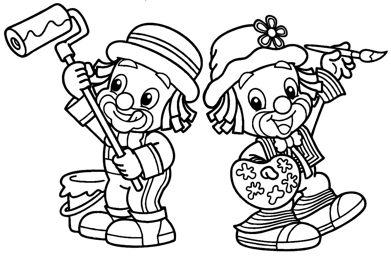 Desenho Patati Patata Para Colorir