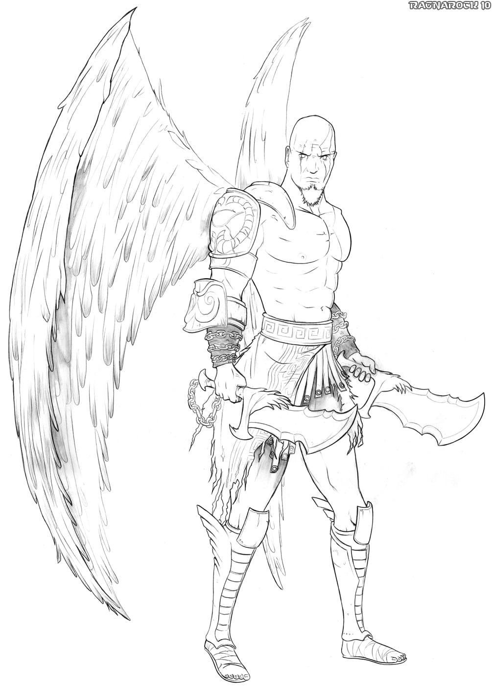 How To Draw God Of War, Draw Kratos, Step By Step, Video Game