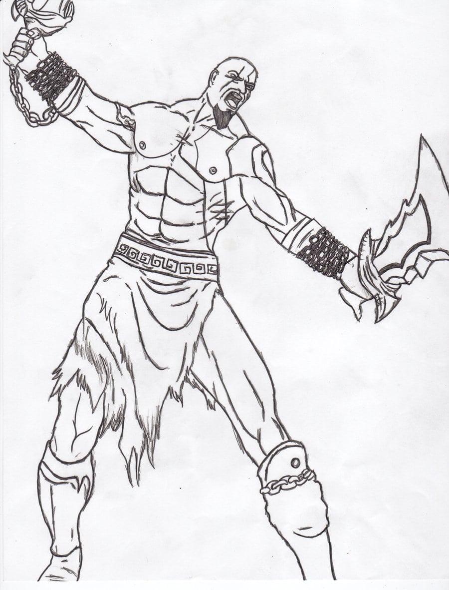 Kratos God Of War By Mantis484848 On Deviantart