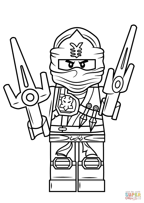 Desenho De Lego Ninjago Jay Zx Para Colorir