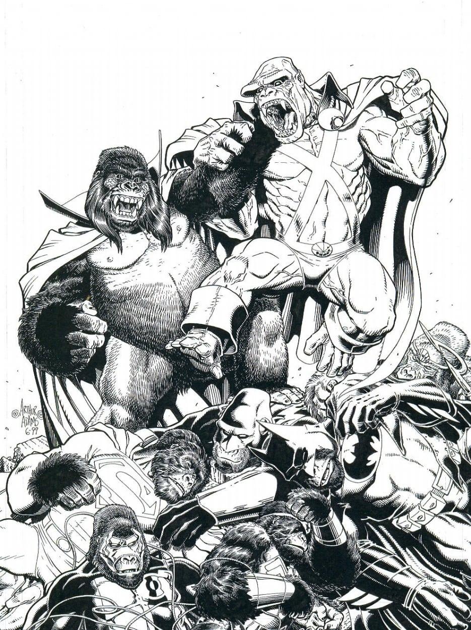 Desenhos Da Liga Da Justiça Para Colorir Imprimir