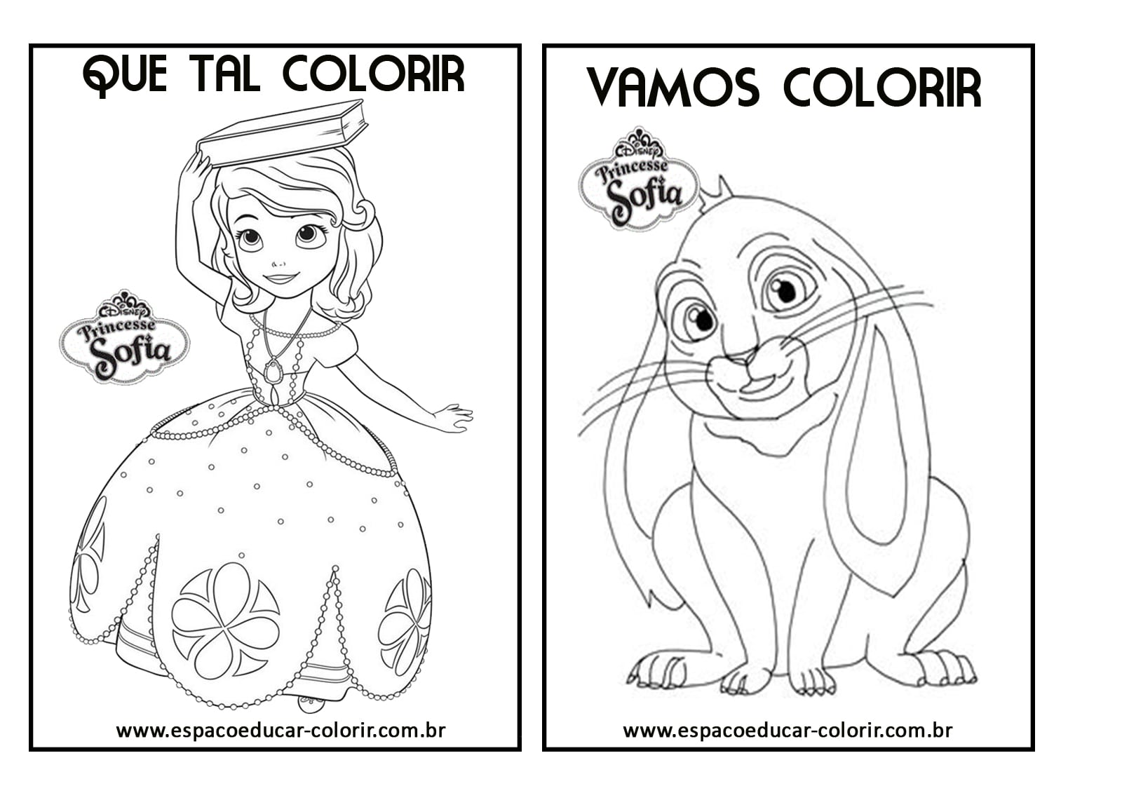 Livro De Colorir Com Atividades E Desenhos Da Princesa Sofia Para