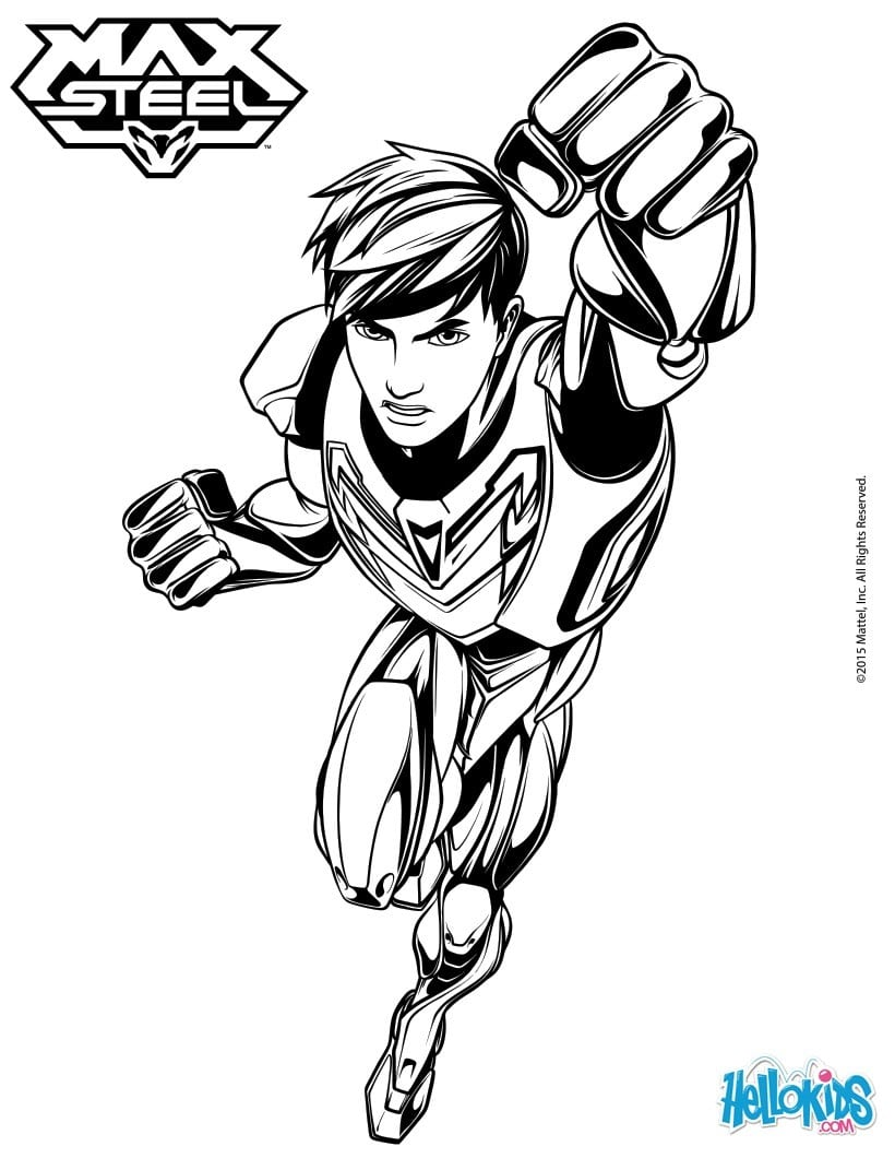 Max Steel And His Super Powers Coloring Pages