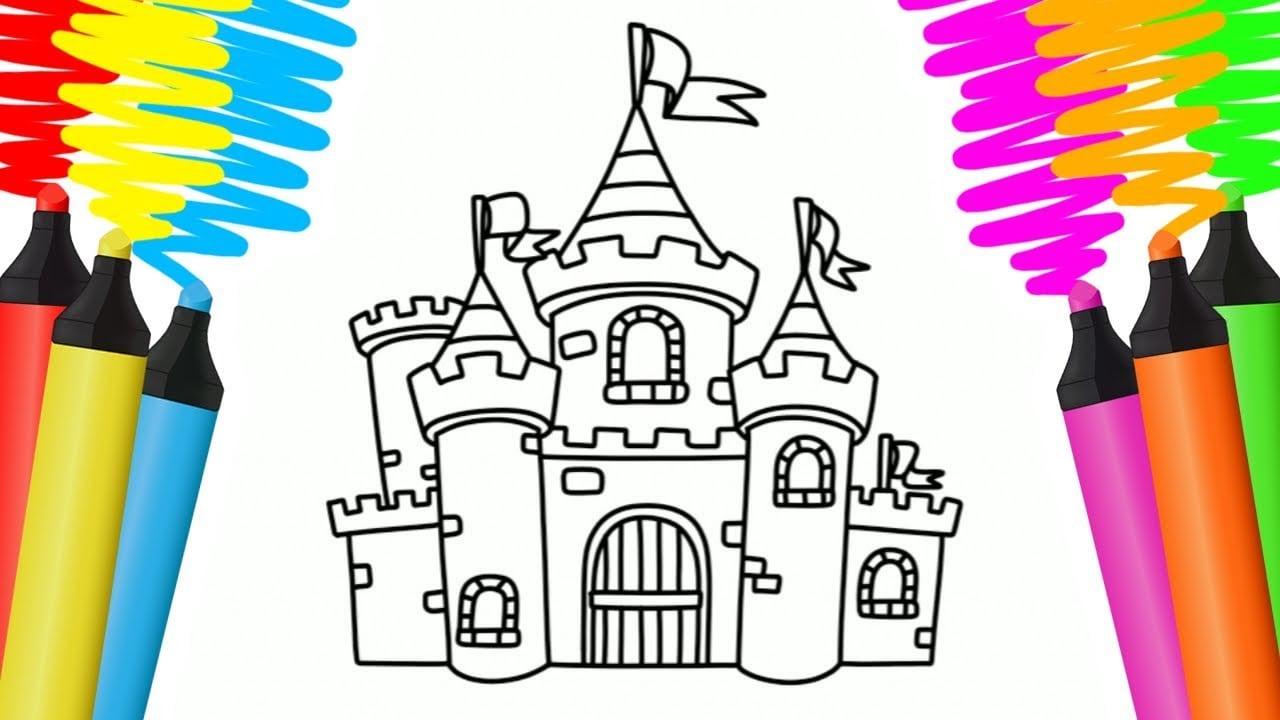 Como Desenhar E Colorir Castelo E Barco