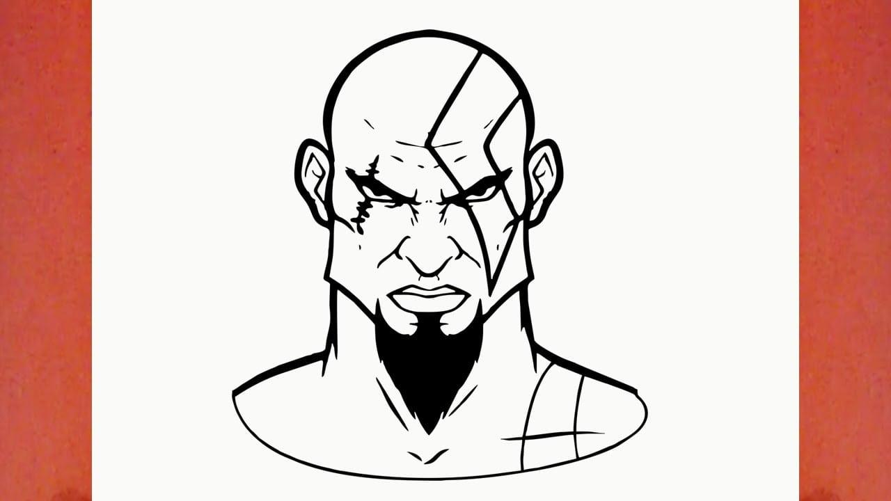 Como Desenhar O Kratos Do God Of War (deus Da Guerra)