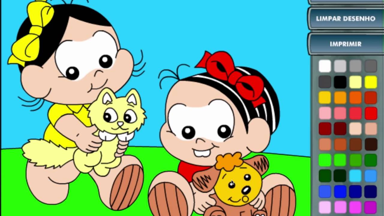 Jogos Da Turma Da Mônica Vamos Pintar Baby Gameplay