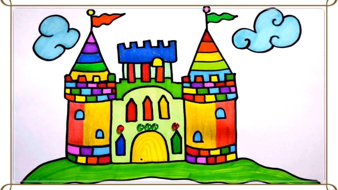 Aprenda A Desenhar E Colorir  Castelo