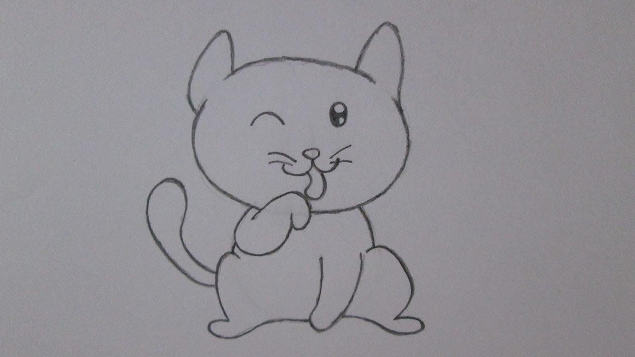 Como Desenhar Um Gatinho