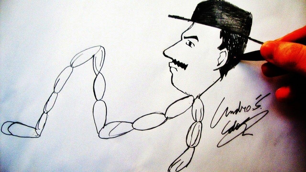 Como Desenhar O Prof  Girafales [sr  Linguiça Caricatura] (chaves