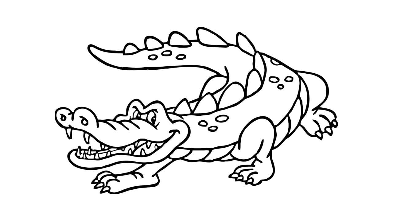 Como Desenhar Um Jacaré (crocodilo, Animais)
