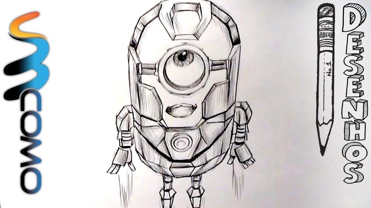 Desenhando Minion Iron Man Do Gru